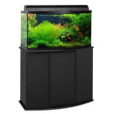 aquatic fundamentals 46 gallon bowfront aquarium stand petco
