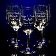 personalized wedding custom engraved favors glassware napkins
