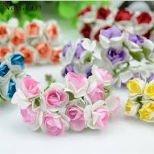 paper flower bouquet 100pcs lot 2cm mini paper flowers bouquet wedding decoration