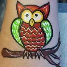 how to face paint a kooky halloween owl u2013 facepaint com
