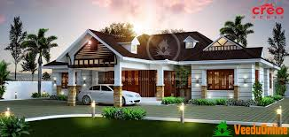 Interior Design Ideas For Small Homes In Kerala by Kerala Style Sloping Roof Home Exterior House Design Plans 10