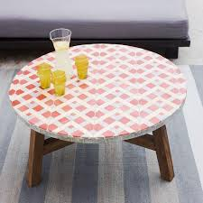 Tile Bistro Table Tiled Coffee Table Coral West Elm
