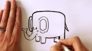 how to draw a cartoon elephant youtube