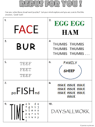free printable rebus worksheet from puzzles to print features 10