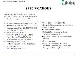 emergency lighting battery life expectancy energy efficient lighting od battery backup module ml4lemu 4