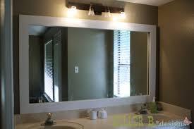 Bathroom Mirror Size White Framed Bathroom Mirror Best Killer B Designs Within Mirrors