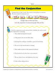 conjunction practice worksheet free worksheets library download