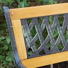 garden bench patio outdoor furniture porch chair park seat deck