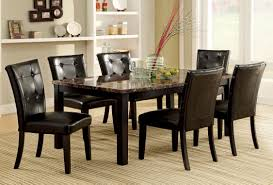 furniture of america benning heights 7 piece faux marble dining set