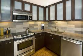 kitchen with stainless steel backsplash textured stainless steel backsplash appliance garage cabinet