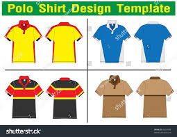 polo shirt design lined vector template stock vector 78207688