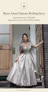 most expensive wedding gown most expensive wedding gowns philippines wedding
