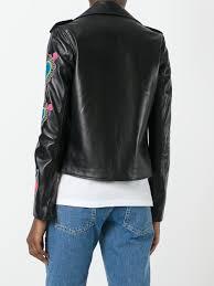 biker jacket women house of holland heart patches biker jacket black women clothing