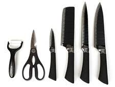sharp kitchen knives everrich black kitchen knife set of 6 sharp knives scissors non