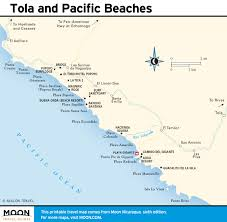 Florida West Coast Beaches Map by Printable Travel Maps Of Nicaragua Moon Travel Guides