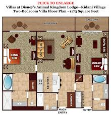 lovely villas at wilderness lodge floor plan part 2 two bedroom