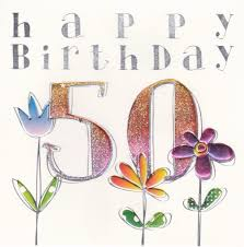 finished 50th birthday card karenza paperie
