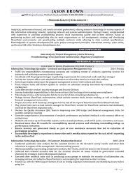 Information Security Resume Template Information Technology Resume Examples