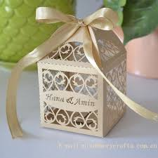 personalized ribbon for wedding favors laser cutting creative golden silver ribbon wedding favours party