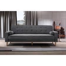 Gray Linen Sofa by Lizzy Linen Sofa Wayfair