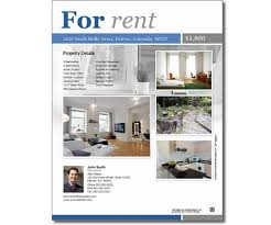 real estate flyers templates free classic for rent flyer