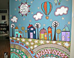 mural wall decoration ideas stunning fabric wall murals