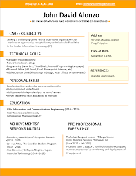 Resume Style Cover Letter The Format Of Resume The Best Format Of Resume