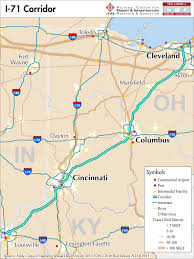 Map Of Medina Ohio by I 71 U2014 Mid America Freight Coalition