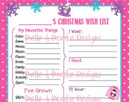 christmas wish list christmas wish list etsy