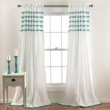 Curtains With Pom Poms Decor Lush Decor Pom Pom 84 Inch Curtain Panel Overstock Shopping