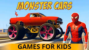 monster truck videos kids stunts video kids s street vehicles learn colors fire s monster