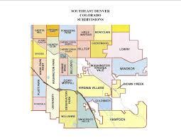 Denver Co Map Southeast Denver Colorado Subdivisions Bbc