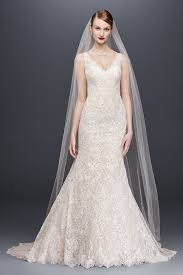 new style oleg cassini lace mermaid wedding dress cwg747