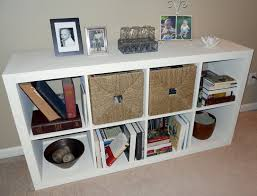 furniture interesting white cheap bookcase with wicker hamper on