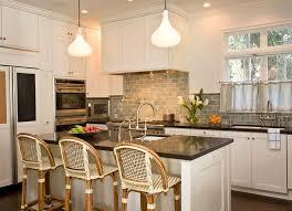 white kitchen with grey subway tile backsplash home design ideas