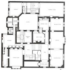 Floor Plan For Mansion Half Pudding Half Sauce Charles L Tiffany Residence New York