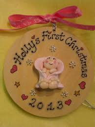 Personalised Baby S First Christmas Tree Bauble baby s 1st first christmas 3d personalised wooden bauble tree