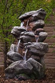 bear creek waterfall fountain towering rock outdoor water feature