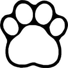 paw print template paw print stencil printable free clipart best