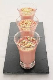 canapé mousse strawberry mousse canape starter stock photo picture and royalty