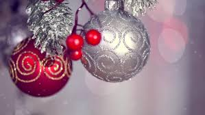 and new year decoration abstract silver blurred