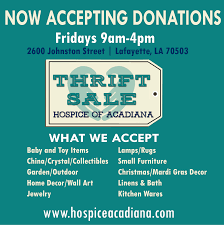 hospice of acadiana now accepting donations mustang ts2016 donations squareinfo