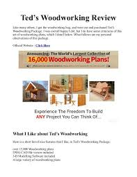 Wood Plans Free Pdf by Teds Woodworking Pdf Plans Is 16000 Woodworking Plans Free