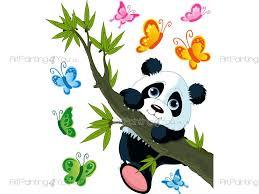 pandabär wandtattoo kinderzimmer vdi1132de artpainting4you eu