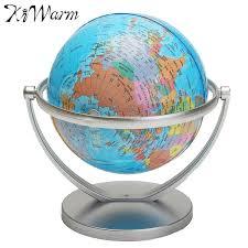 kiwarm geography world globe rotating world map ornaments