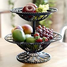 tiered fruit basket two tier wrought iron basket sam s club