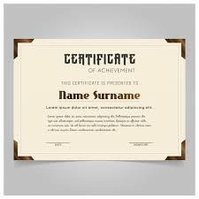 vintage certificate template vector free download