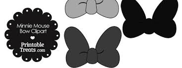 minnie mouse bow clipart shades grey u2014 printable treats