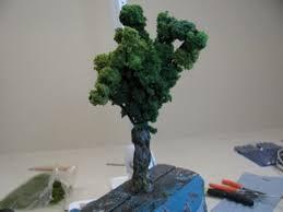 how to make realistic miniature trees intermediate
