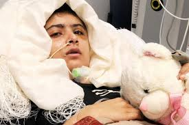 University Hospitals Birmingham / PA Malala Yousafzai, who was shot by a Taliban gunman in Pakistan, in her hospital. Sick: Malala Yousafzai is pictured ... - Malala%2520Yousafzai-1387357